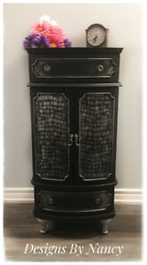 Lovely Refinished Bombay & Co. Jewelry Armoire/Chest!
