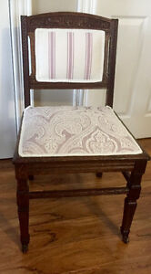 BEAUTIFUL ANTIQUE PARLOUR CHAIR (REDUCED)