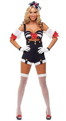 Sexy Starline Makin' Waves Sailor 5pc Costume S4530 (Makin Waves Kostüm)