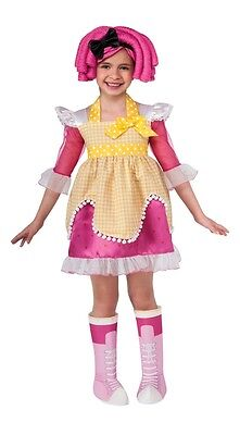Lalaloopsy Deluxe Crumbs Sugar Cookie Child Costume, Pink/Yellow, Rubies - Lalaloopsy Baby Crumbs