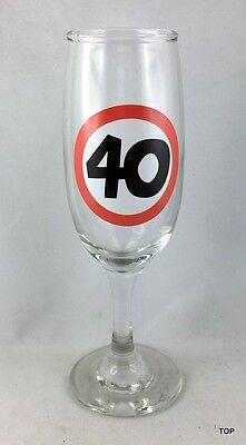 40. Geburtstag Sektglas Party Feier Jubiläum im Geschenkkarton