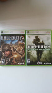 2 JEUX CALL OF DUTY POUR XBOX 360