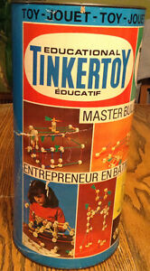 VINTAGE THE ORIGINAL TINKERTOY TOY NO.65150 USA. WOODEN PLAYSET