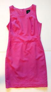 J J. Crew Pink Magenta wool sheath dress Size 6