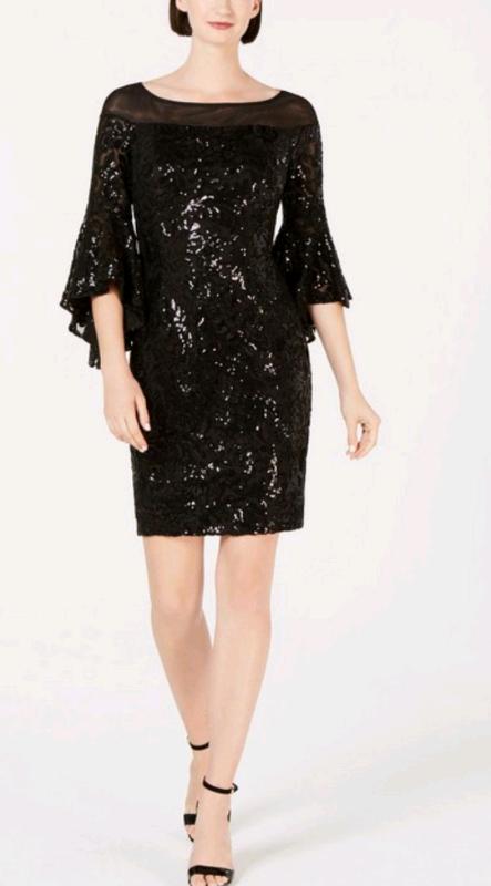 Calvin Klein Sequin Bell Sleeve Sheath Dress In Birchgrove Swansea Gumtree