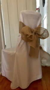 Chair covers and Sashes / Couvre chaises avec bandes