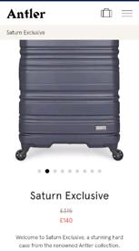 e1756d7f Brand New Antler Large Navy Suitcase - Hard Case Luggage 360 Wheels