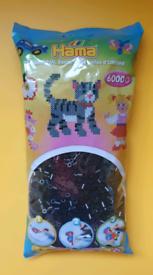 New! In packaging Hama Beads Midi Black - 6000 Value bag