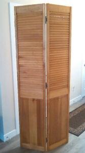 Bi-fold Louvered Doors, set of 2