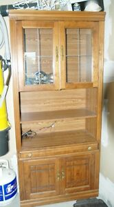Coffee table set and Cutlery cabinet  and 2 lamps