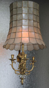Awesome Vintage Capiz Shell Chandelier