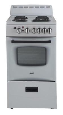 "Avanti ER20P0WG 20"" 2.1CF Freestanding Electric Range White"