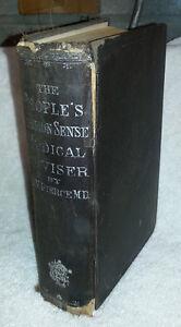 c1914 Antique Book REMEDIES MEDICAL MIDWIFE RECIPES