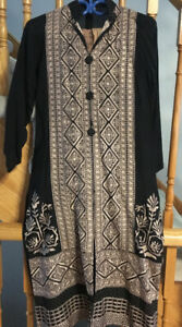 Pakistani/Indian Casual Dresses/Suits on SALE- Black/Brown