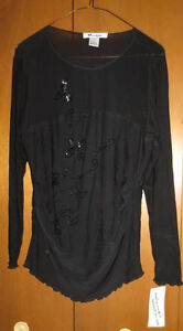 Ladies SIZE 12 Nygard black formal evening top-new never used London Ontario image 1