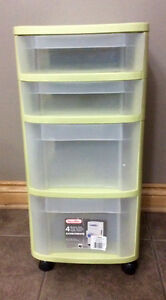 4 Drawer Storage/Organizational Cart With Wheels - St. Thomas