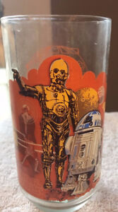 VINTAGE 1977 STAR WARS R2-D2/C-3PO Burger-King Coca-Cola Glass