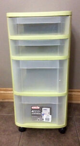 Light Green 4 Drawer Storage Cart With Wheels - St. Thomas