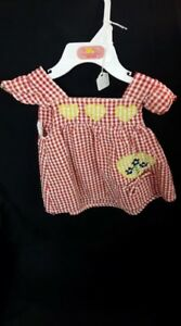 Red Check Yellow Heart Dress