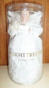 10-Light  - 10 Inch White Angel Tree topper christmas - new