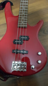 Red Ibanez Gio Soundgear Electric Bass Guitar, Amp, Chords, Case