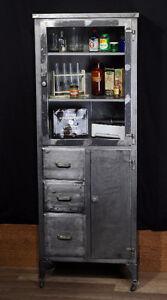 meuble industriel antique banc table casier cabinet bureau