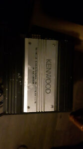 "Kenwood KAC-859 5-channel amp and 10"" subwoofer"
