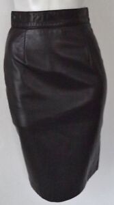 DANIER Leather SKIRT Black XS