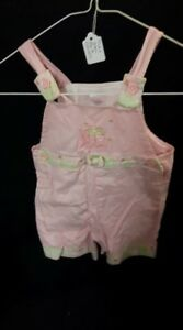 Pink and Green Short Overalls