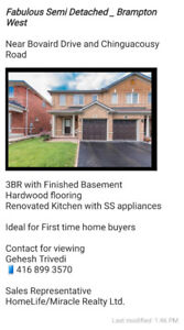 Semi Detached in Brampton