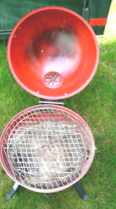 Portable Briquettes  B B Q w/ 14 inch Cook area and Tools