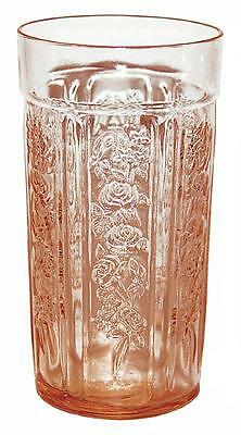 Federal Glass Company Sharon Pink Flat 5 1 4  Thin Ice Tea Tumbler
