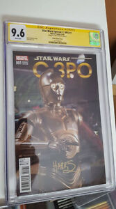 Star Wars C-3PO #1, CGC Graded, Certified Signature, Variant