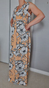 thyme long dress with detachable stretchy slip- Large (NWT)