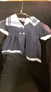 """""""Blue and White Sailor Dress"""