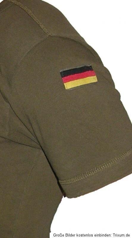 Bundeswehr Unterhemd orig Nationalitätsabzeichen Hoheitsabzeichen Rundkragen