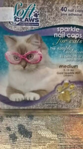 Soft Claws Sparkle Nail Caps for cats *BNIB*