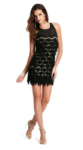 Guess by Marciano Francis Fringe Dress (black fringe holiday dre