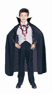 Dracula Cape Kids (Black Dracula Child Cape, Vampire, RG)
