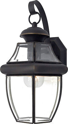 Large Black Outdoor House Light Porch Deck Lamp Outside Lantern Fixture 100 Watt