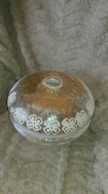 Edwardian acid etched glass shade