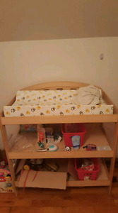 Wood baby change table w/ change pad