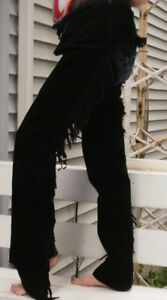 Black Suede Western Riding Chaps