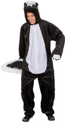 Stinktier Kostüm Overall Tier Herren Damen Zoo Stinktierkostüm Stinktieroverall
