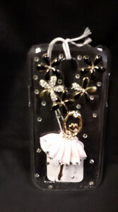 Clear Black And Gold Tone Ballerina Phone Case