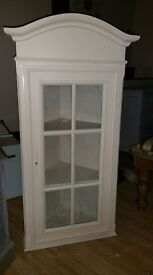 Up cycled corner Wall cabinet with key