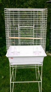 Large bird cage with stand good condition