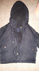 Gap down filled coat