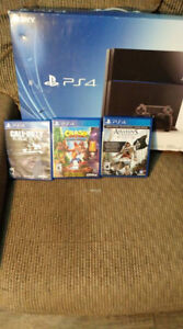 ps4 with 3 games for sale or trade