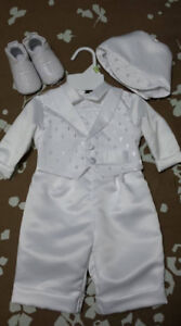 2 Boys Baptismal Outfits - Size 0-3 months
